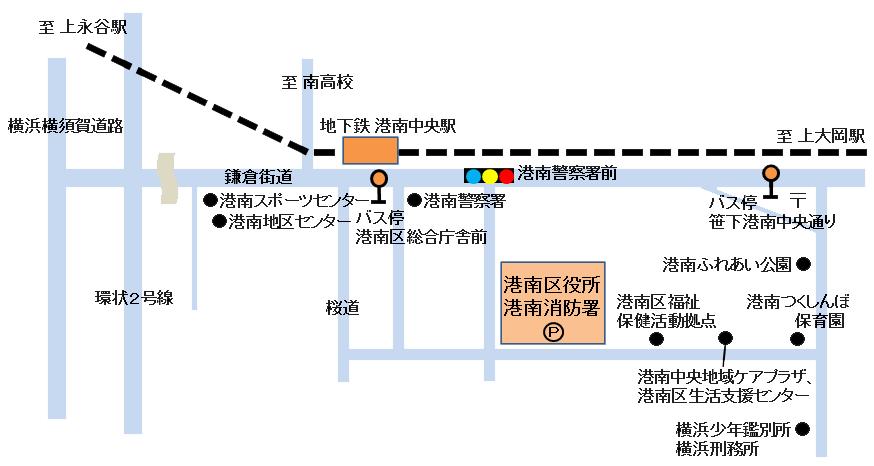 港南區交通地圖