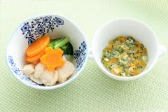 Chicken white meat and turnip simmered with Yoshino photograph