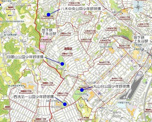 La imagen de Shimonagaya, Maruyamadai, el área de Higiriyama,