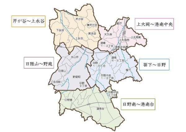 It is overall map of Konan Ward