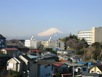從芹谷1丁目公園看的富士山