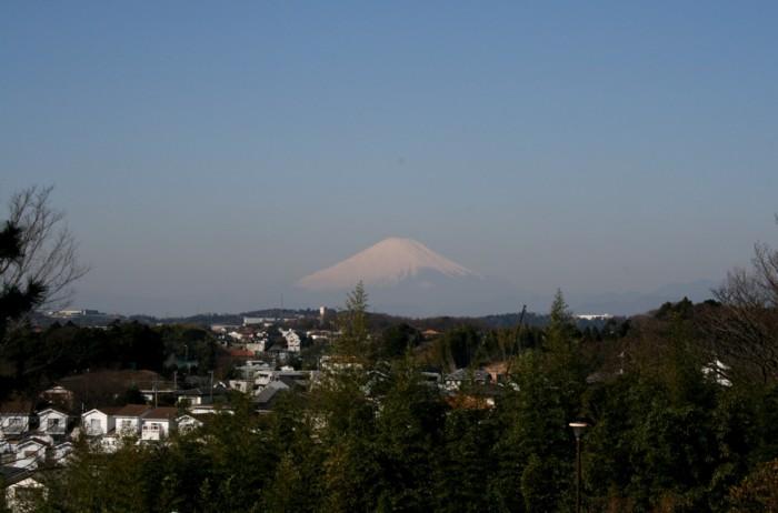 從鍛冶ka山谷南公園看的富士山