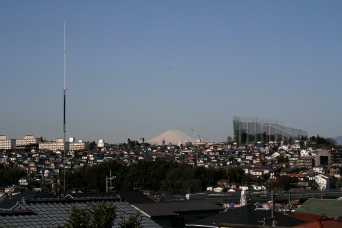 從港南6丁目看的富士山