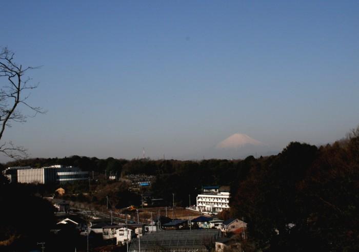 從下永谷4丁目看的富士山