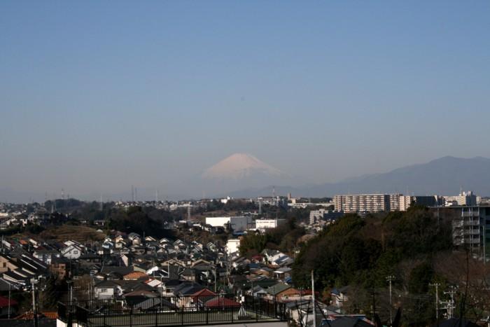 從下永谷市民的森看的富士山