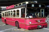 Autobús de los zapatos rojo