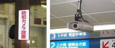 방범카메라의 설치 표시와 방범카메라의 이미지