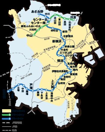 横滨市营交通区域地图
