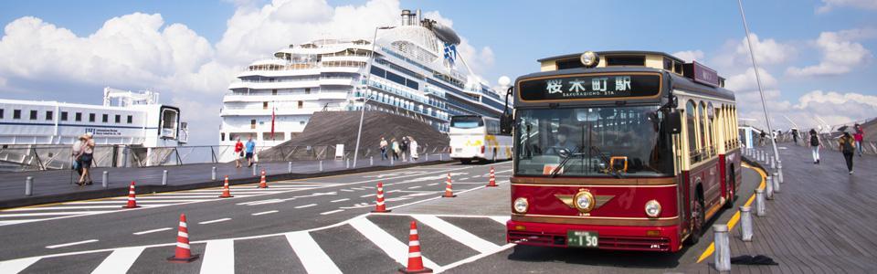 시영 교통으로 요코하마 둘러싸