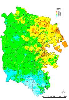 Imagen de mapa de terremoto de terremoto en Bahía de Tokio norteña