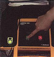 La fotografía que enciende el suministro de corriente de LIFEPAK500