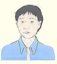 Figura da face da pessoa do choque