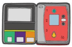 AED의 예의 그림