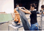 Fire extinguishing experience of flame-proof cloth