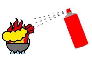 Tool for aerosol type simple fire extinguishing