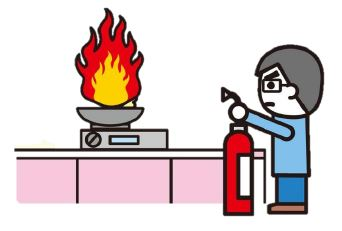 Use of fire extinguisher
