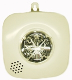 Alarm auxiliary equipment which informs by light and vibration, letter indication in with hearing loss