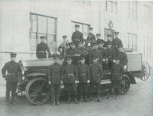 1923년의 소방대의 사진
