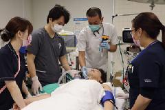요코하마시 구급 워크스테이션으로 병원 실습