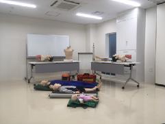 橫濱市急救工作站的訓練空間