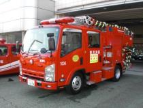 We move to page of small size fire engine with water tank.