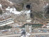 The damaged situation of Kamaishi-shi, Iwate Toni district