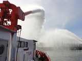 State of drainage activity to stop by to protect fireboat