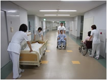 Photograph of ward corridor of our hospital