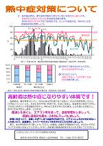 요코하마시 위생연구 연구소 작성 열사병 계발 리플릿