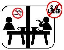 Smoking room for exclusive use of heating-type cigarette