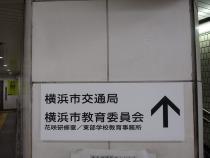 Letrero de la guía delante del metro municipal el postigo de Takashimacho Estación