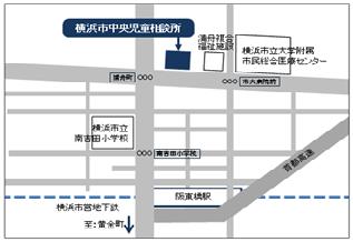 中央兒童咨詢所的地圖