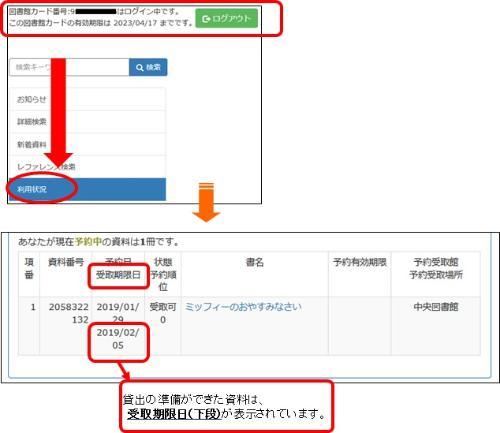 Página del catálogo en línea (pantalla que inicia sesión)