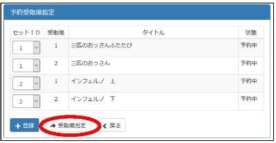 Recibo la pantalla designada (después del registro de ID fijo) por el orden