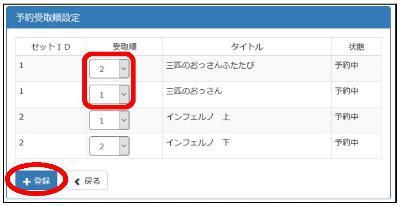 Recibo la pantalla designada (antes del cambio del orden del orden del recibo) por el orden