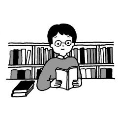 La persona que está leyendo un libro