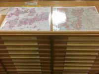 Chuo-toshokan la tercera esquina de mapa de suelo