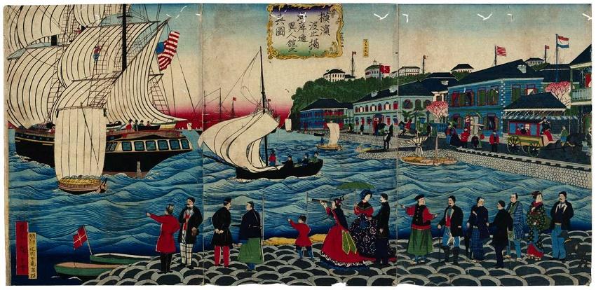 La imagen de waterfront del Yokohama tuerce .........