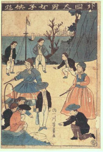 Imagen del hombre extranjero y obra de niño de mujer