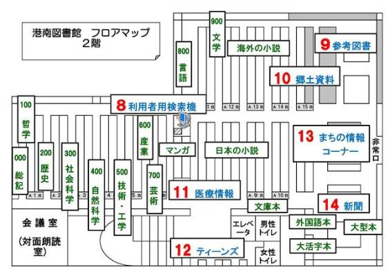 The second-floor guide map