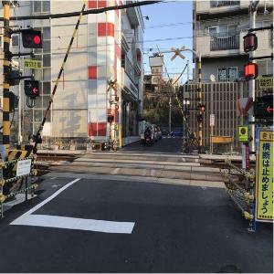 Antes de las 7, Kamihoshikawa el negocio del cruce ferrocarril