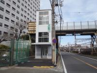 Railroad crossing (after the maintenance) in front of Kagetsuen