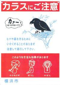 El letrero de atención en el que el cuadro del que un cuervo tenía el cuidado del niño fue publicado