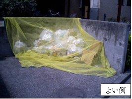 Ejemplo bueno del lugar de basura dónde toda la basura encaja en en un precio neto
