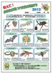 Questionnaire of creature investigation by primary schoolchild