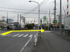 Photograph of railroad crossing this side road