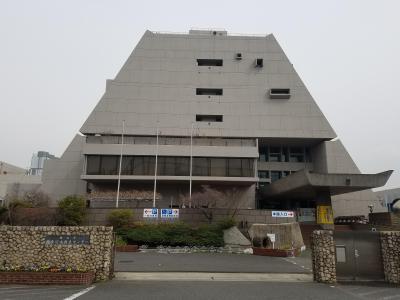 Kanagawa water reproduction center front elevation