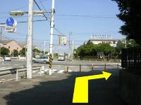 Photograph of intersection of 1, Sachiura