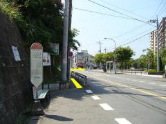 Photograph of Minami and bus stop