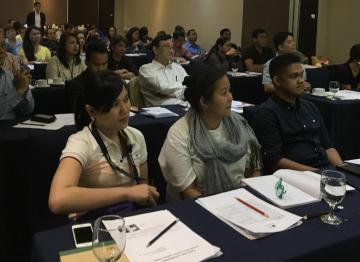 Workshop in Cebu where introduction of system was carried out